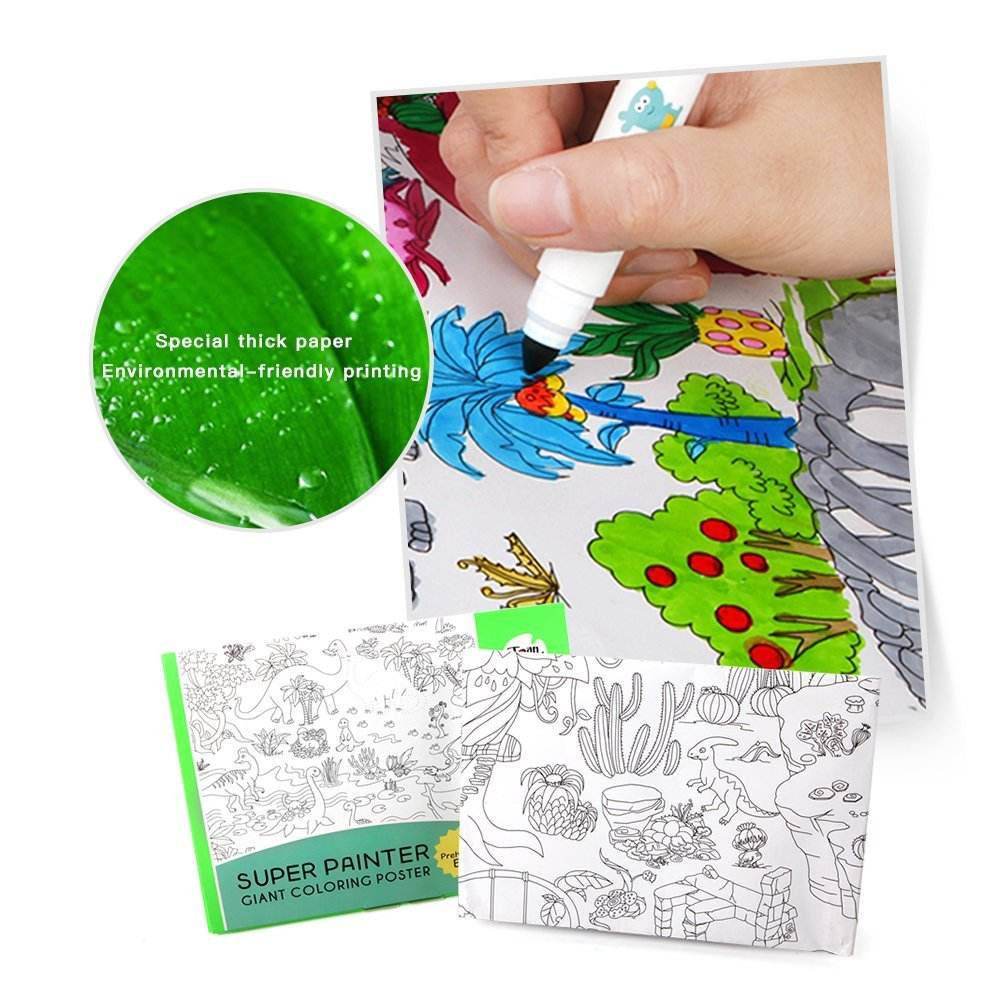 wholesale custom printing giant large coloring pages for kids and adults