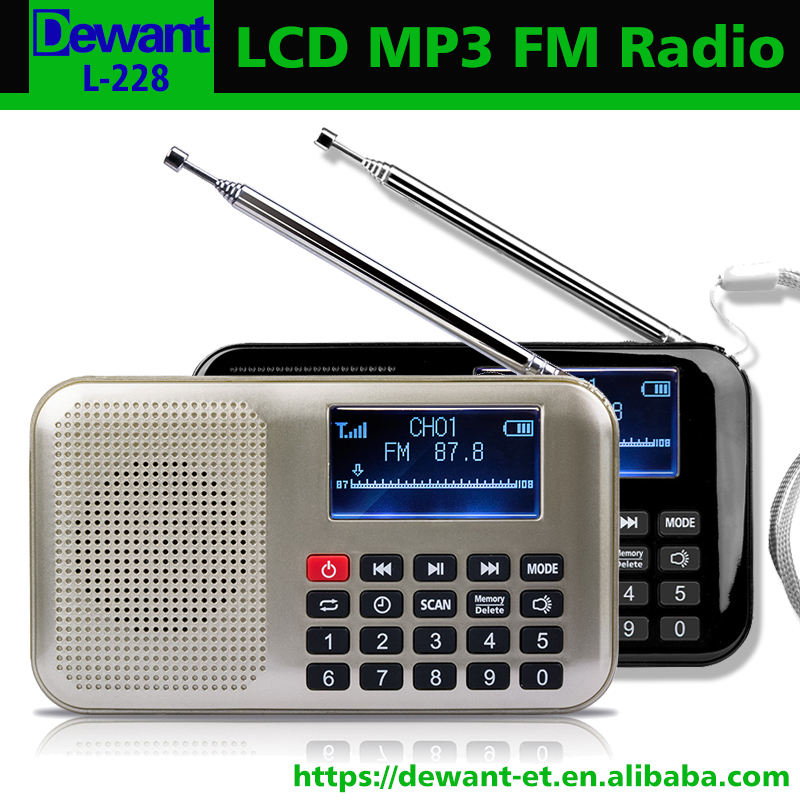L-228 digital de rádio FM leitor de música digital mp3 player manual