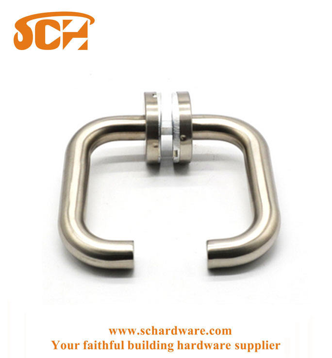 Stainless Steel Round Tube Pull Door Lever Handle For Glass Sliding Door
