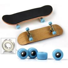 Wood Finger Skateboard Alloy Stent Bearing Wheel Fingerboard Novelty Kids Toys Professional Type Bearing Wheels Skid Pad Maple