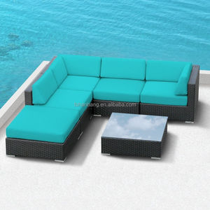 Rotan Outdoor Furniture Patio Wicker Sectional Sofa Set