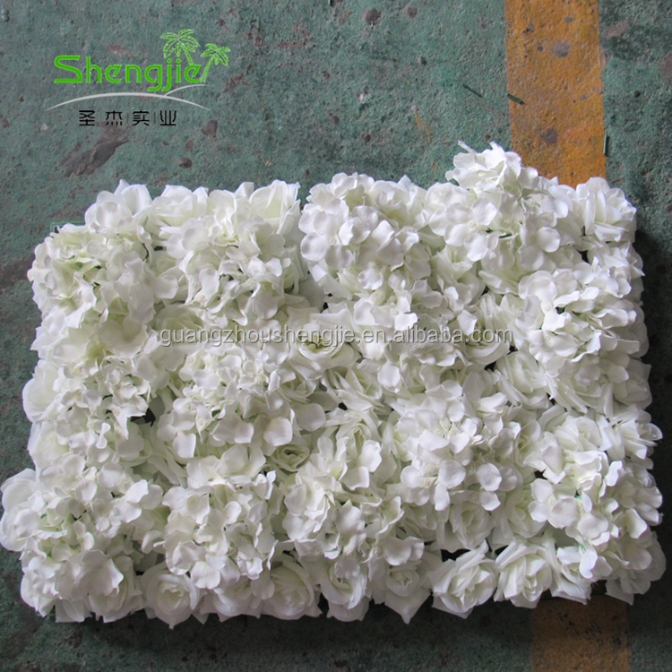 Handmade 3m Silk Artificial Rose Roll Up Flowers Wall Panels for Wedding Decor