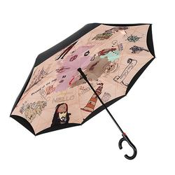 Top Quality wholesale automatic open double layer inverted umbrella windproof guangdong manufacturer