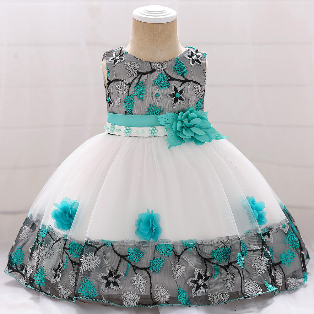 Worldwide freies verschiffen tragen High Quality Kids 0-2 Years Baby Party kleidung Cute Baby Girls One Piece Dress L5045XZ