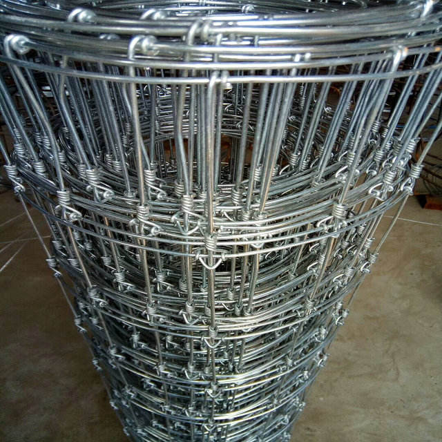 Wrought iron security agricultural hinged joint fixed knot steel farm fencing for Australia