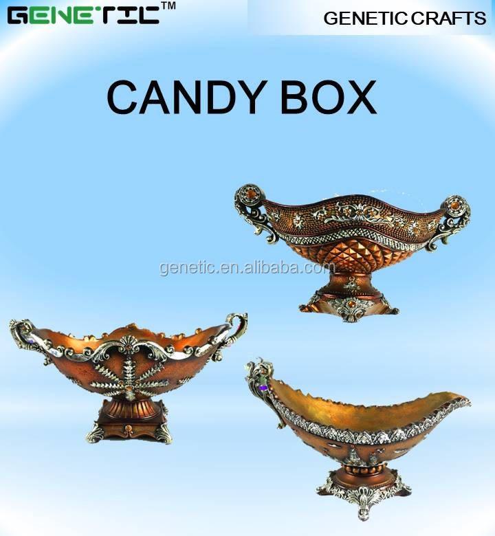 BRONZE MOST BEAUTIFUL CANDY BOX FRUIT BOX LIVING ROOM DINNING ROOM DECORATION RESIN ARTICLES