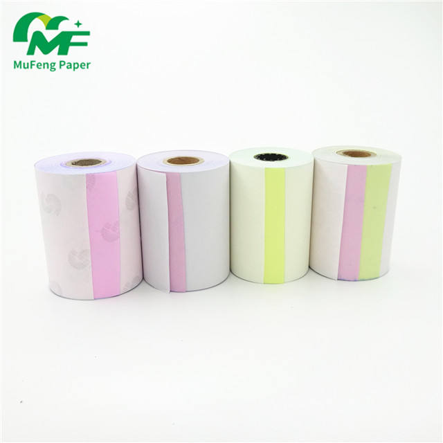 2-ply 3-ply 4-ply continuous NCR carbonless printing triplicate copy paper impression for atm hotel