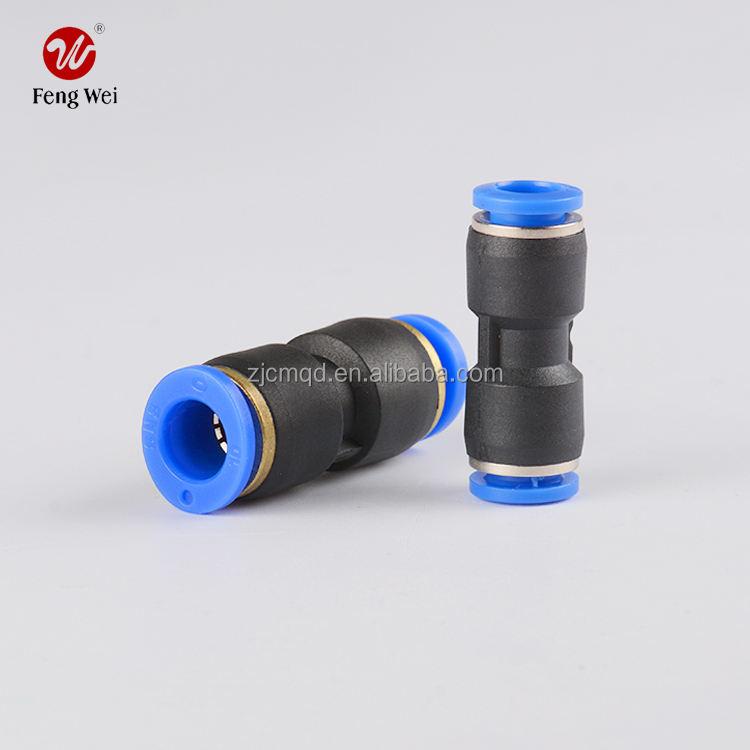Plastica pneumatico raccordo e rapido pneumatico raccordo pneumatico veloce inserimento