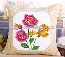 DMC floss cross stitch set cushion pillow