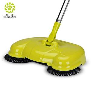 Stainless steel rotating brush broom wholesale easy home manual floor carpet sweeper
