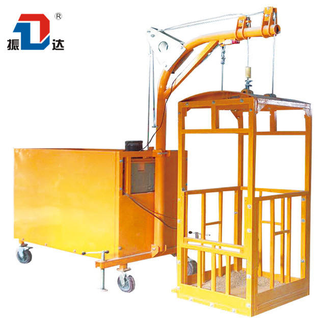 SGS CE Inspection Glass Cleaning Tool Electric Gondola Building Construction Cradle ZLP 800 Suspended Platform