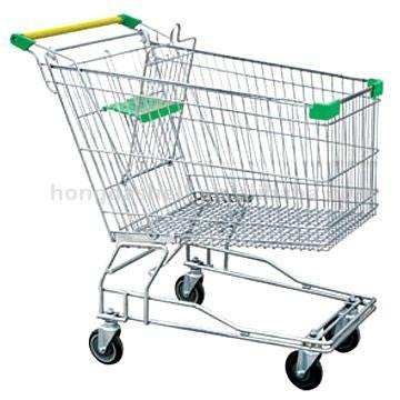 22 inch wheels russia style shopping trolley