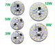 3w 5w 7w 9w 12w 15w with PCB 40-45lm smd 5730 led chip led pcb