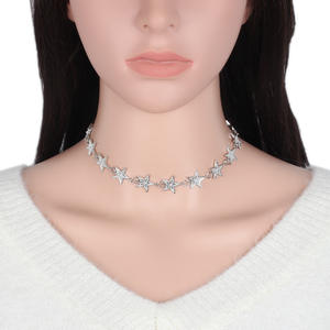 YR459 Huilin European 및 American 패션 (energy star 별 제 metal necklace 숏 체인 숨 막히게 necklace promotion