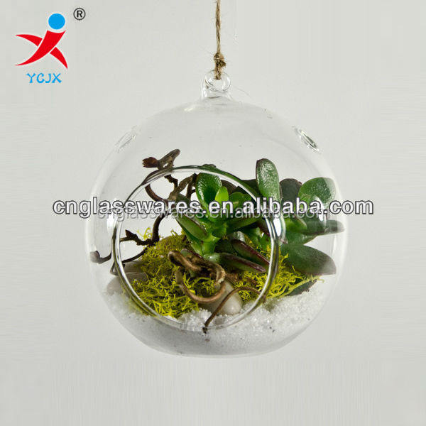 hand made hanging clear glass globe ball terrarium for sale