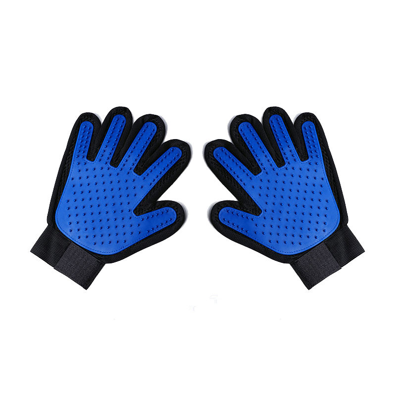 A01 Cat pet cleaning mane gloves pet grooming massage gloves silicone dog bath massage brush Pet gloves