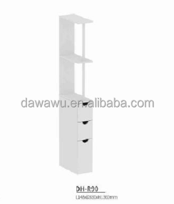 Bathroom furniture toilet rack/shelf with 2 layers and 3 drawers