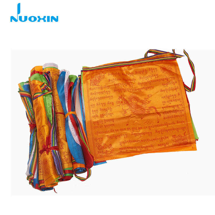 Nuoxin 28*35Cm Tibetaanse Rustige Boeddhistische String Wind Paard Lungta Gebed <span class=keywords><strong>Vlag</strong></span>