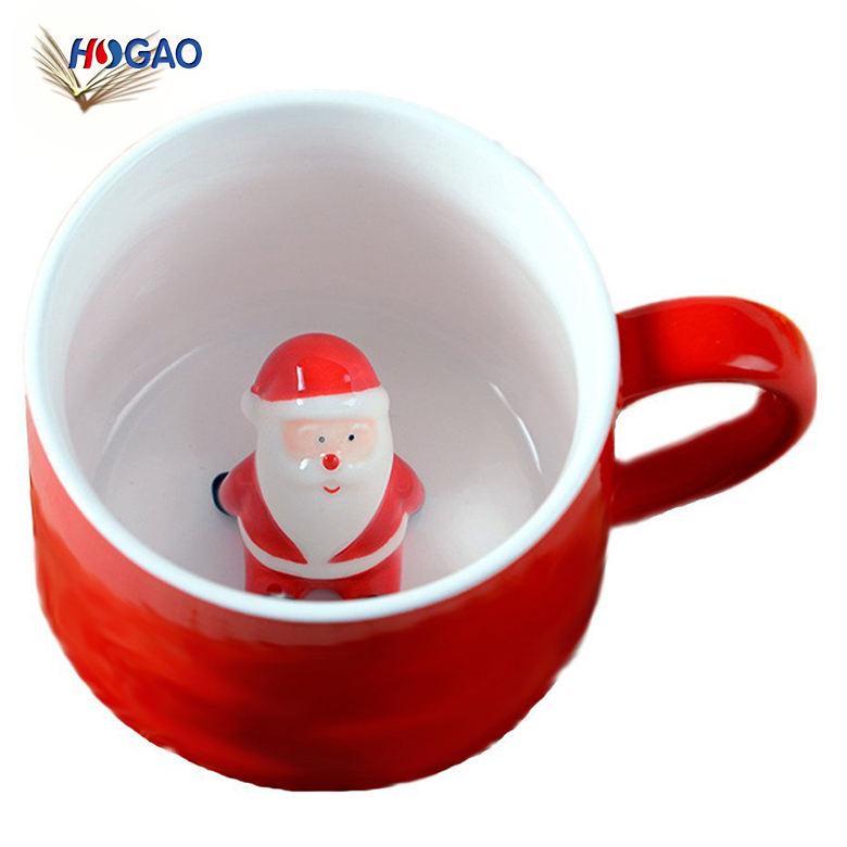 2018 lindo Taza de cerámica novedad cerámica Navidad divertida tazas para uso diario restaurante y partido