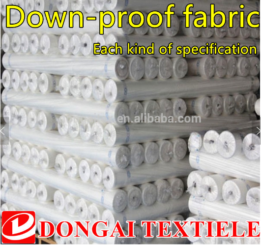 Down jacket Polyester Taffeta double side down-proof handle interlining fabric