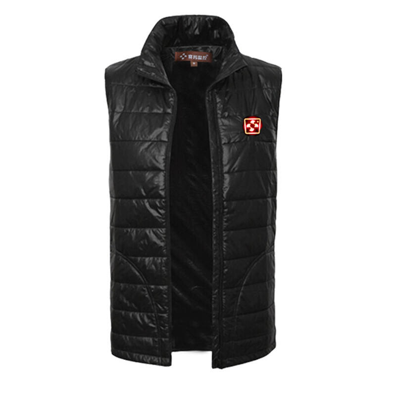 black battery powered heating waistcoat for motorbike carbon fiber element customized thermal heat vest for winter heated vest
