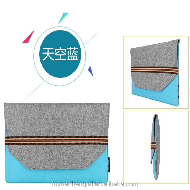Wool felt laptop sleeve bag,customized logo required,fit for mac book