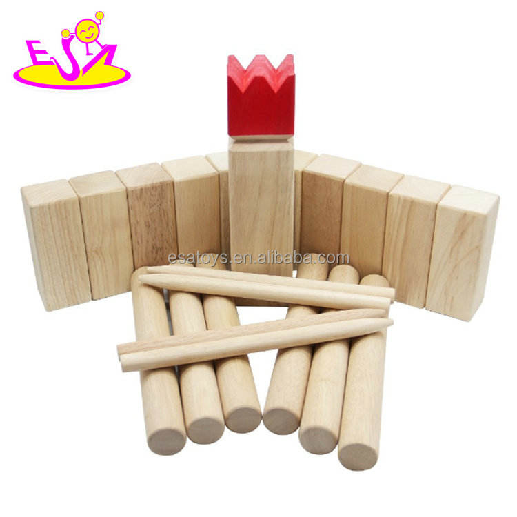 wholesale cheap outdoor wooden kubb yard game for throwing W01D012