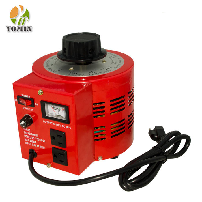 Produsen TDGC2-0.2 Single Phase Voltage Regulator Variac,Powerstat Variabel Autotransformer 200VA/