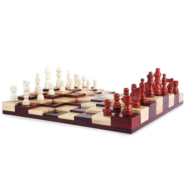 3D Exclusive Inlaid Chess Board Marble Chess Pieces