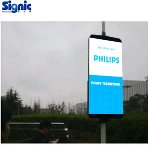 light box outdoor advertising 3G control P5mm street pole led panel screen