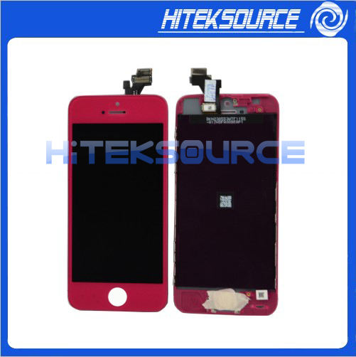 Cor Rose Red Front Housing Display LCD Tela Assembléia para iPhone 5