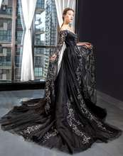 Jancember ARSM66883 Black Prom 2019 Ball Gown Lady Party Long Evening Gowns Beads Women Robe De Soiree