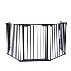 5 panels automatic closing foldable metal pets fence safety barrier fireplace guard fence