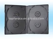 14mm black color dvd cases for 4pcs disc