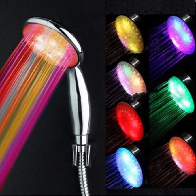 RGB Colorful Head Home Bathroom 7 Colors Changing LED hand Shower head