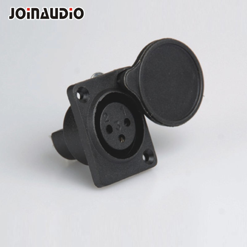 3Pin XLR Female Jack D Type Cannon Connector With Waterproof Cover