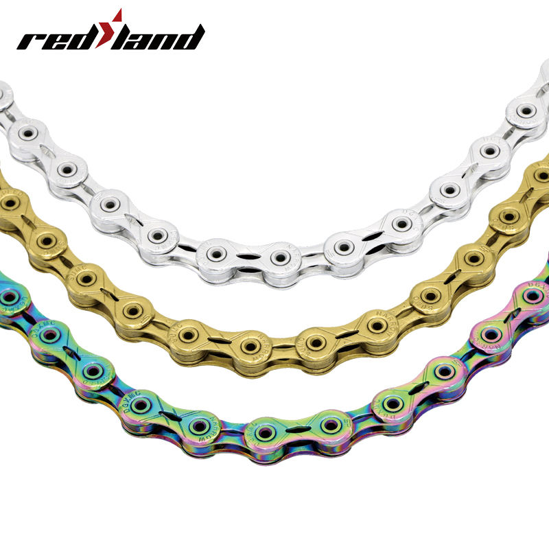 "Mountain bike 10 11 12 Speed chain1/2"" x11/128"" hollow out bicycle chain with connecting pin"