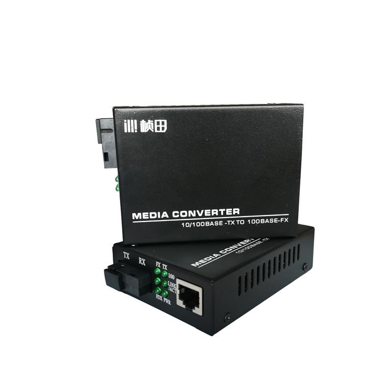 OEM & ODM Pabrik Cepat Ethernet Media Konverter 3 KM Serat Optik Transceiver Sc 1 Pair