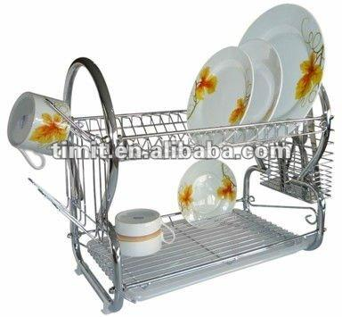 "16"" 8 SHAPE HIGH QUALITY CHROME PLATED cabinet DISH RACK"