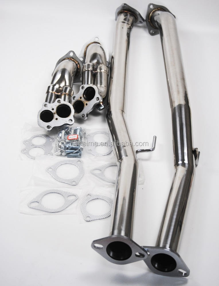 Fit 300Zx Fairlady Z32 Vg30De Na Painted Steel Racing Header Manifold Exhaust