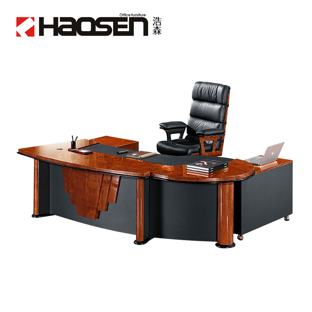 Modern semi circle office executive desk and chairs