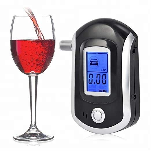 Breathalyzer Keychain Digital Alcohol Tester Detector Breath Analyzer Audible Alert Portable with LCD Display