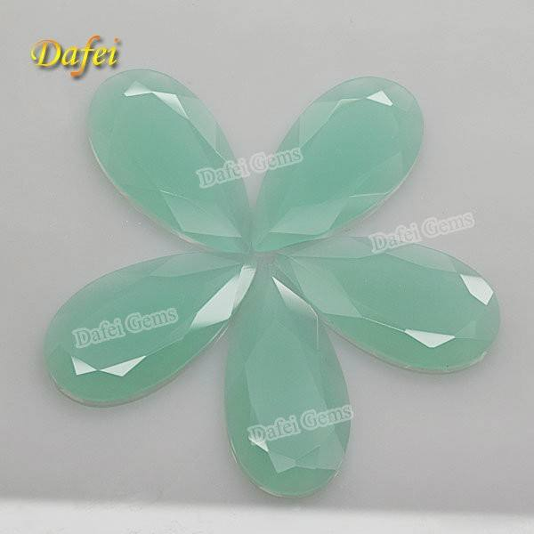 Dafei Light Blue Pear Cut Glass Gems