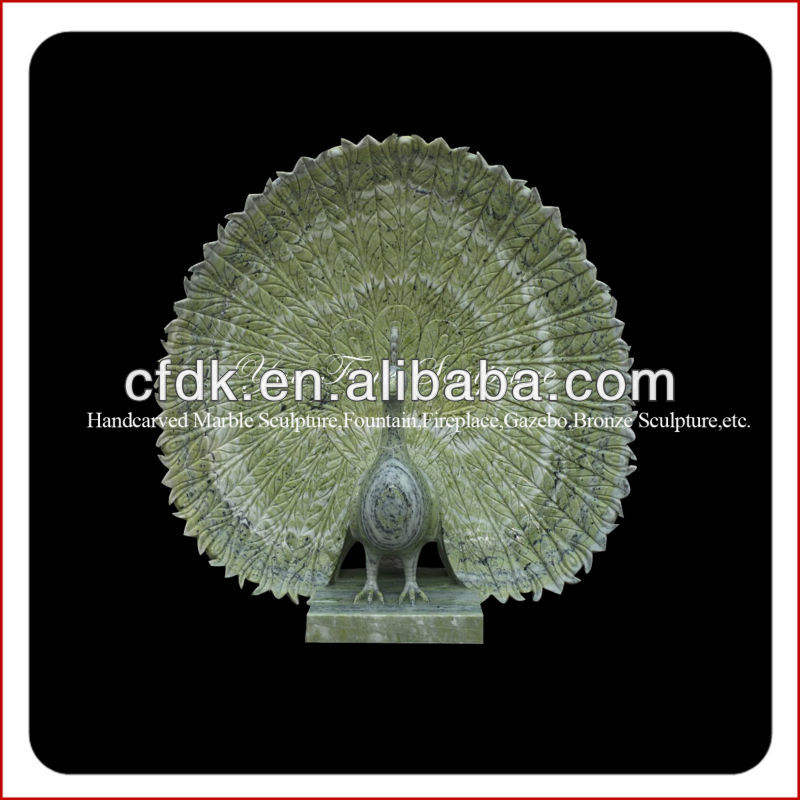 High quality stone peacock sculpture carving