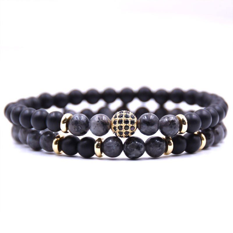 Natural stone Bracelet men Disco Ball Charms Bracelets for women Men jewelry