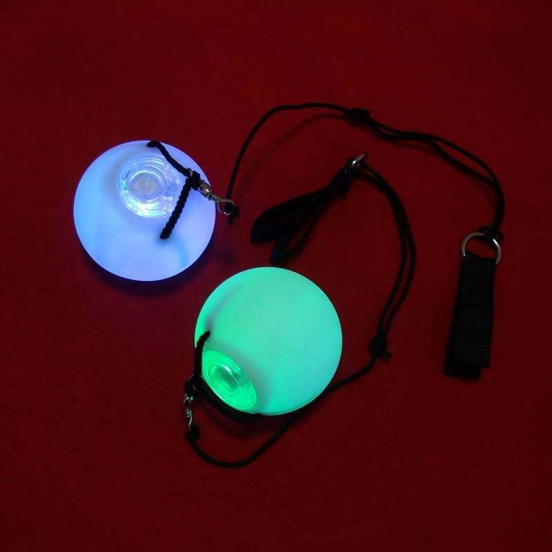 POD POI LED POI ชุด: light up Art GLOW In The Dark Fire พนักงาน Spin Ball สี 3D