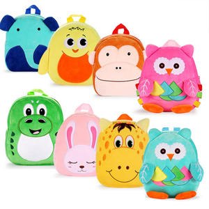 Hot Sale Kids Cartoon Animal Plush Backpack For Girls and Boys