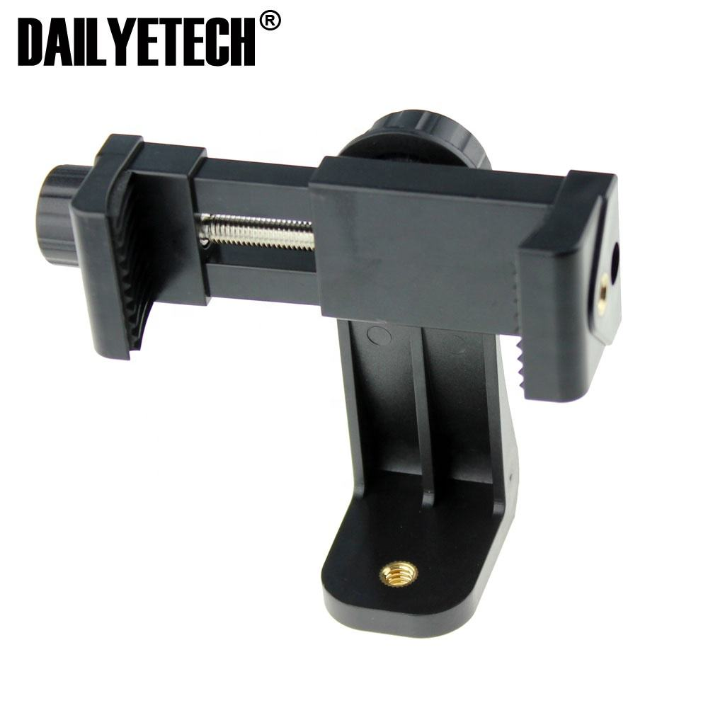Universal 1/4 Screw Hole Phone Clip 360 Degree Rotatable Mobile Phone Clamp Broadcast Bracket for Tripod