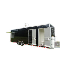 Mini insulated food trailer outdoor bratwurst food trailer with big window