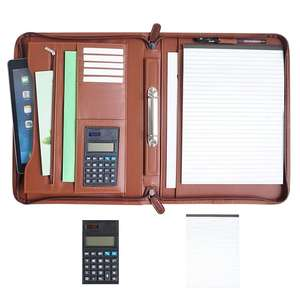 Wholesale Cheap Fashionable Luxury pu folder a4 leather binder portfolio with handle